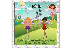 Fairy birthday card, personalised birthday, magical birthday, fairy dust, fairy princess, daughter birthday, granddaughter, any age card by ShellsCCC on Etsy Fairy Birthday, Fairy Princesses, Daughter Birthday, Unique Cards, Fairy Dust, Kids Cards, I Am Happy, Birthday Cards, Family Guy