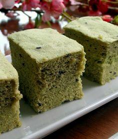 抹茶とゴマの風味のふわふわもっちり蒸しパン