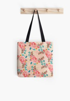 'Flower Design' Tote Bag by Shane Simpson Large Bags, Small Bags, Medium Bags, Cotton Tote Bags, Flower Designs, Are You The One, Shoulder Bag, Stylish, Prints
