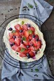 Flammkuchen mit Früchten
