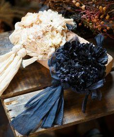 m.soeur(エムスール)のオーガンジーとお花の大きなショールピン(ブローチ/コサージュ)|詳細画像