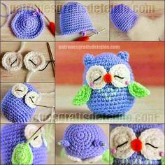 Crochet y dos agujas: Cómo hacer un búho crochet paso a paso