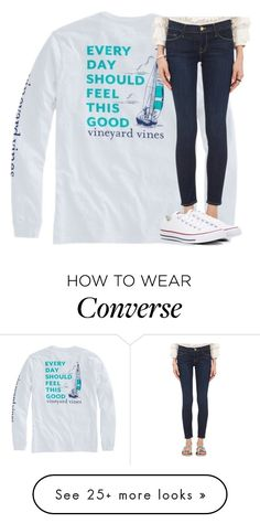 """Untitled #2525"" by laurenatria11 on Polyvore featuring Frame and Converse"