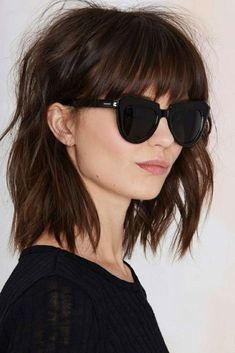 Hairstyles with bangs 40 Awesome Hairstyles with Bangs 40 penteados impressionantes com franja Pony Hairstyles, Summer Hairstyles, Trendy Hairstyles, Bangs Hairstyle, Shaggy Hairstyles, Hairstyles 2016, Medium Hair Cuts, Medium Hair Styles, Curly Hair Styles
