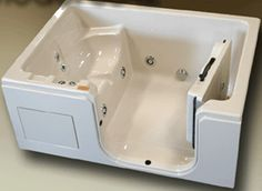 """Extra wide tub, non commercial  42"""" wide>>> See it. Believe it. Do it. Watch thousands of spinal cord injury videos at SPINALpedia.com"""