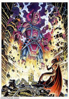 Galactus vs. Mephisto by Giorgio Comolo