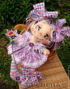 Купить Текстильная кукла Сиреневая феечка. - сиреневый, интерьерная кукла, текстильная кукла, подарок девушке