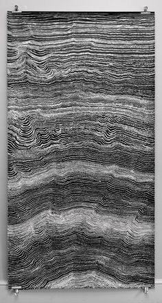 <br /> Written Language <em>(line drawings)</em>, India ink on paper, 216 cm x 113 cm