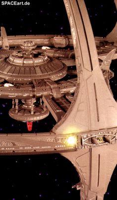 Star Trek: DS9 Space Station (mit Beleuchtung), Modell-Bausatz, http://spaceart.de/produkte/st090.php