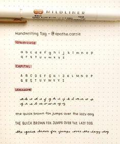Cute Handwriting Fonts, Handwriting Template, Handwriting Examples, Perfect Handwriting, Learn Handwriting, Beautiful Handwriting Alphabet, Different Handwriting Styles, Handwriting Worksheets, Bullet Journal Lettering Ideas