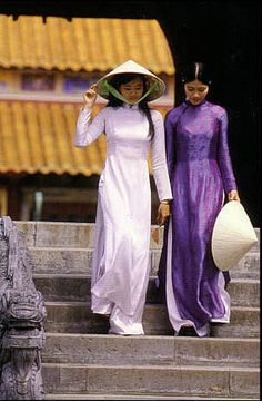 Vietnam...style of dress called an aoi dai