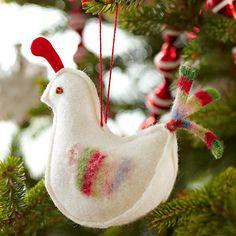 Decorações da árvore de Natal idéia reboque mexer sentiu galo