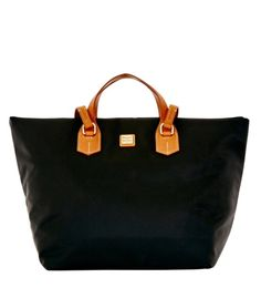 Dooney and Bourke Windham Collection nylon Extra large Leighton bag. Great vacation tote; fold & pack, then carry on vac! From QVC.com.