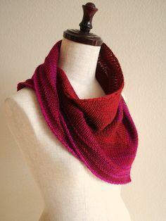 Ravelry: knittimo's lazy daisy red kerchief (Lazy Daisy Shawlette by Orange Flower Yarn) free pattern