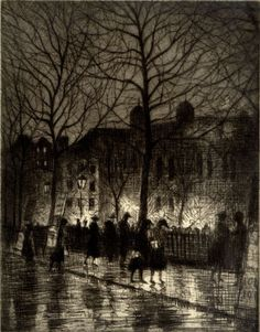 Christopher R. W. Nevinson, Twilight in Leicester Square, c.1926