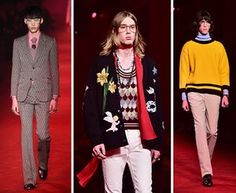 Three looks from Gucci AW16