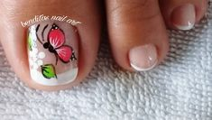 Manicure And Pedicure, Nails, Bff, Facebook, Beauty, Nail Ideas, Work Nails, Flower, Pretty Toe Nails