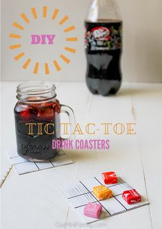 A summer fun tutorial the whole family can enjoy: DIY Tic-Tac-Toe Coasters! Click through to get the DIY directions! #ShareFunshine #ad
