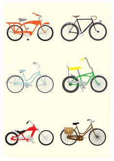 Shop Samantha Eynon's store featuring unique designs on various products across art prints, tech accessories, apparels, and home decor goods. Bike Art, Classic Bikes, Vintage Bikes, Quote Posters, Cool Bikes, Tech Accessories, Artsy Fartsy, Color Schemes, Art Prints