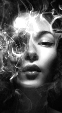 Black and White My favorite photo White Art, Black Art, Rauch Fotografie, Badass Drawings, Smoke Art, Dark Fantasy Art, Dark Beauty, Double Exposure, Pose Reference