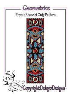 Geometrics-+Peyote+Bracelet+Cuff+Pattern