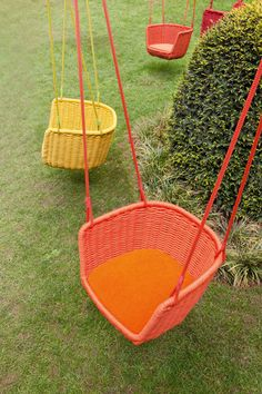 I'm pretty sure swinging is still a thrill no matter what your age is and it's even better when you find one that's not kiddie-size. Italian designer Francesco Rota has you covered with this squeal-inducing basket swing called Adagio for Paola Lenti.