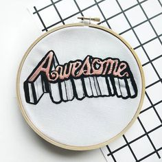 Awesome embroidery hoop