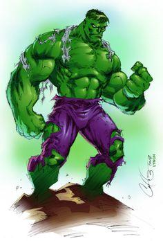 #Hulk #Fan #Art. (Hulk line art and Colours) By: Cory Hamscher. ÅWESOMENESS!!!™ ÅÅÅ+