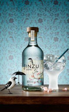 British Sake Gin Bottle Label Design