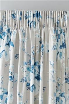 Buy English Posy Teal Print Pencil Pleat Curtains from the Next UK online shop