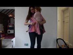 Peytons Carry - size 3 quick easy poppable woven wrap babywearing carry - YouTube