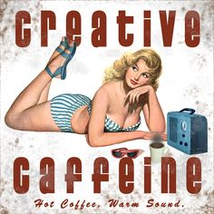 Creative Coffee Collectible Pin-Up Girl...love this ♥: whatever they are selling here I want some!