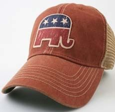 28a283776b1 Republican Elephant Legacy Old Favorite Adjustable Mesh Hat Legacy Hats