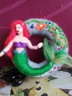 Nadelfilz Ariel Disney Characters, Fictional Characters, Disney Princess, Art, Felting, Art Background, Kunst, Gcse Art, Disney Princes