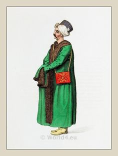 Ottoman Empire Costumes. private secretary to sultan