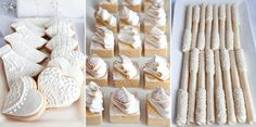 Delectable delightful dessert tables to tempt you in tones of white and gold featuring different cakes and lollies for wedding ideas. White Dessert Tables, White Desserts, Best Bakery, Vanilla Cookies, Cake Truffles, Galletas Cookies, Different Cakes, Tea Cakes, Cake Table