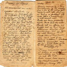 """"""" Diary of Gallipoli: entry for 25th April 1915. Diary of 494 Sergeant Joseph Cecil Thompson, Gallipoli 25th April 1915. Pages four and five by thompsoe on Flickr. """""""