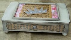 Little Vintage Cottage: Altered Vintage Silverware Box Turned Jewelry Box!