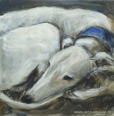 Greyhound original painting von Lobitos auf Etsy.... Looks more like a Saluki to me but still very pretty :)