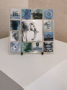 Fused Glass, Elephant, Gallery Wall, Abstract, Frame, Home Decor, Summary, Picture Frame, Decoration Home