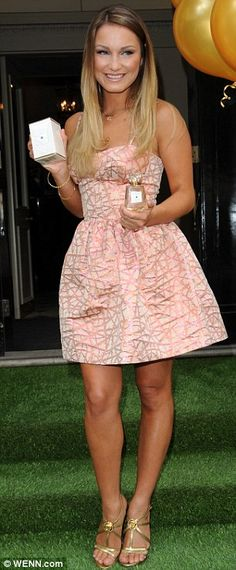 Sam Faiers wows in pink prom-style dress at launch of her fragrance #dailymail