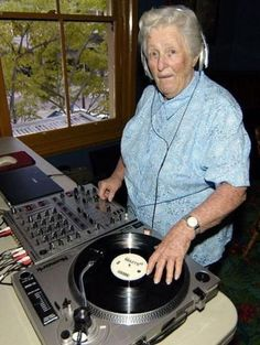 There's no rule anywhere that studio producers and 'the sound guy' have to be teenage boys or young men! Granny at the controls of the sound board and record / disk player.