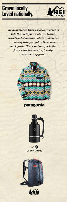 Some of our picks for fall's most innovative, locally dreamed-up gear: the Women's Patagonia Lightweight Synchilla Snap-T Fleece Jacket, DrinkTanks Vacuum Insulated Growler and REI Special Edition Flash 18 Pack. Shop the Co-op favorites now.