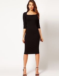 Enlarge ASOS Pencil Dress With Cowl Neck $66.84