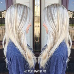 Platinum blonde. Silver blonde. Hair color. Balayage highlights