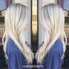 Platinum blonde. Silver blonde. Hair color. Balayage highlights