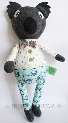 Mr Koala. Australian themed soft toy by Friends in the Leaves. Would add a nice touch as part of a nursery decoration.