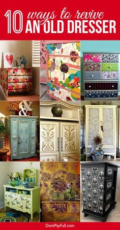 10 Ways to Revive an Old Dresser #DontPayFull