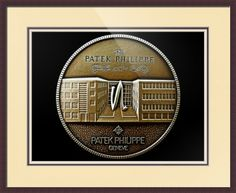 "Patek Philippe Geneve Commemorative Medal Coin // Paper: enhanced matte; Glazing: acrylic; Moulding: dark brown, flat espresso; Top Mat: white/cream, paper ivory; Middle Mat: pink/purple, eggplant; Bottom Mat: white/cream, chantilly // Price starts at $155 (Petite: 19.25"" x 21.25""). // Customize at http://www.imagekind.com/Patek-Philippe-Geneve-PPG_art?IMID=5cad76ca-2632-4430-9e1b-71f73e27c714"
