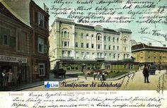 Timisoara - 1907 - Szent György tér (Piaţa Sfântul Gheorghe) cu minunatul Palat al Primei Case de Economii (Erste Temeswarer Sparkassa) ridicat în anul 1855 Romania, Louvre, History, Building, Dan, Travel, Historia, Viajes, Buildings